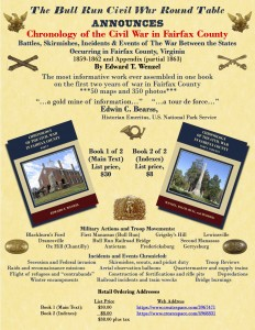 Chronology of the Civil War in Fairfax County Flyer, BRCWRT, Retail, 1-18-16